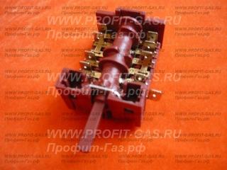 Переключатель мощности духовки на 5 режимов для электроплиты Гефест-1140, GEFEST-2140, GEFEST-6140, GEFEST-ДА102, GEFEST-ДА602 (850618)