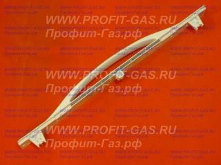 Ручка дверки духовки Гефест-2140, Гефест-3100, Гефест-3200 до 2004 г.в. белая