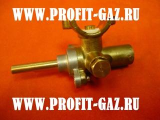 Кран большой горелки конфорки газовой плиты Дарина (природный газ) ГМГ 2.00 №65
