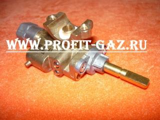 Кран малой горелки конфорки с газ-контролем газовой плиты GEFEST 5100, GEFEST 5300, GEFEST 6100, GEFEST 6300, GEFEST 6500 (ВМП-29)