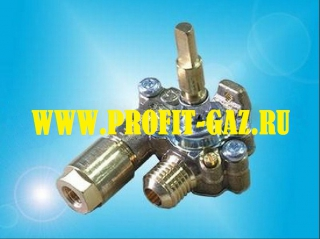 Кран средней горелки конфорки с газ-контролем для встроенной газовой поверхности GEFEST-СН2230