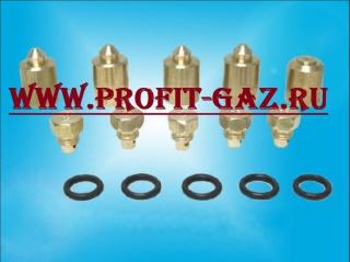 Сопла жиклёры плиты Дарина 1401, 1402, GM441-001...010 (набор для сжиженого газа Р=3000 Па)