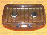 Настольная газовая плита Гефест, 2 конфорки, коричневая