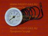 Термометр ИМИT для газового котла Лемакс, диаметр-52mm (0-120C) длина провода-1000мм, круглый