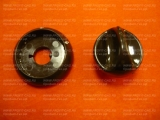 Ручка крана конфорки газовой плиты Гефест-1100, Гефест-3100 с кольцом белая