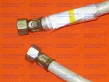 """Шланг газовый резинотканевый 1/2"""" (ДУ-15) длина 1,5 м гайка/гайка белый"""
