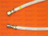 """Шланг газовый резинотканевый 1/2"""" (ДУ-15) длина 1,5 м гайка/штуцер белый"""