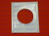 Площадка торцевая 200х240мм для крепления воздуховода d-110мм (металлическая, эмаль белая)