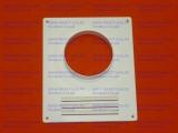 Площадка торцевая 205х240мм для крепления воздуховода d-120мм (пластиковая белая)