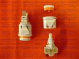 Кнопка подсветки духовки плиты Дарина овальная белая ПКН-507-113