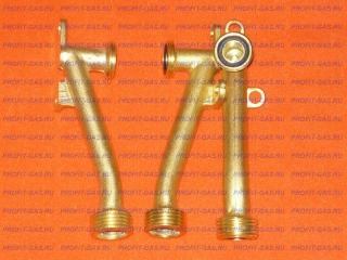 Трубка подачи холодной воды водяного узла ВПГ Zerten 20 кВт, Лемакс Альфа 20М, Лемакс Альфа Евро-20, Neckar JSD 20-B23-31 изогнутая